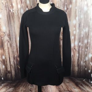 Burberry Black Tunic Sweater M